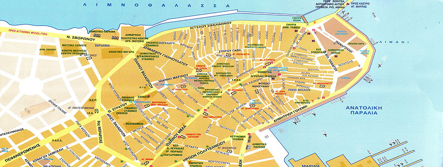 Lefkada town map